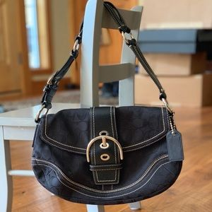 Coach black signature C Handbag